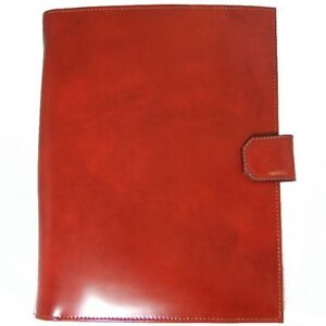 Pratesi Unisex Italian Leather Sarto R A4 Portfolio Notepad Holder Cow Leather