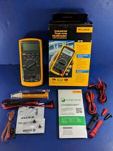 New Fluke 87v Trms Multimeter Original Box Accessories