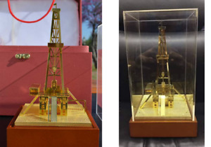 Drilling Rig Model Oilfield Roughneck Safety Award Oil Well Christmas Gift
