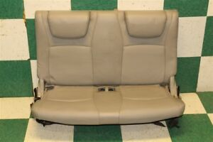 04 07 Gray Leather Highlander Third 3rd Row Rear Back Bench Seat Headrests Fa13