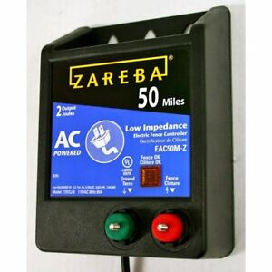 Zareba Eac50m z Ac powered Low impedence 50 mile range Charger