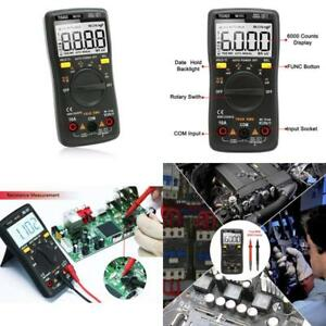 Digital Multimeter Auto Ranging Multi Tester With Lcd Backlight For Electricians