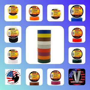 3m Scotch 35 Electrical Tape Rainbow Packs 3 4 In X 66 Ft 9 pack 1 Bonus