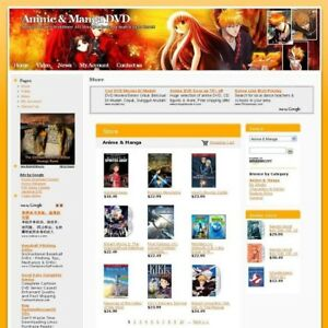 Comic Anime And Manga Dvd Shop Online Business Website For Sale Work At Home