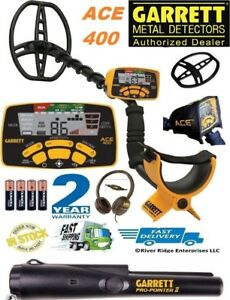 Garrett Ace 400 Metal Detector Water proof Coil Headphones Free Accessories
