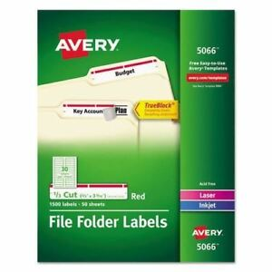 Avery Permanent File Folder Labels With Trueblock Technology Ave5066
