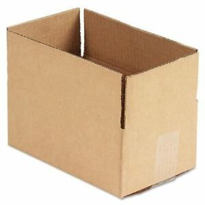 United Facility Supply Brown Corrugated Fixed depth Shipping Boxes Ufs1064