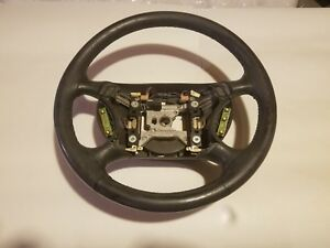 1994 2004 Ford Mustang Cobra Steering Wheel Leather Wrapped W cruise 00 01 03