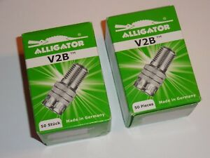 V2b Alligator 2 Boxes Tire Valve Stem Metal Double Seal Cap Extensions Qty 100