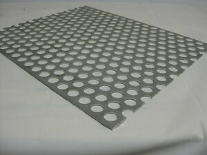 Perforated Metal Aluminum Sheet 1 8 x 24 x 24 3 4 Hole 1 Stagger