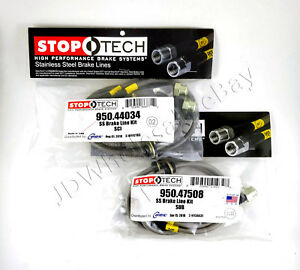 Front Rear Stainless Steel Brake Lines For 13 16 Scion Fr s Frs Stoptech