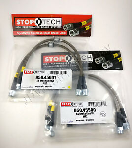 Front Rear Stainless Steel Brake Line Kit For 93 95 Mazda Rx 7 Rx7 Fd Stoptech