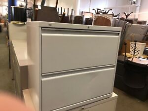 2 Drawer Lateral Size File Cabinet By Hon Office Furniture W lock