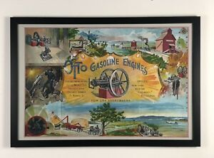 New 24x36 Large Print Otto 1892 Hit And Miss Gas Engine Advertising Poster Sign