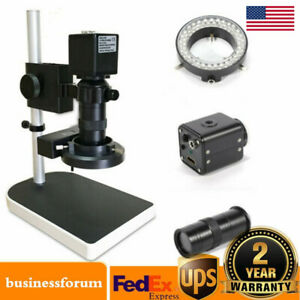 16mp 1080p Hd Digital Industry Inspection Microscope With Table Camera Set Stand