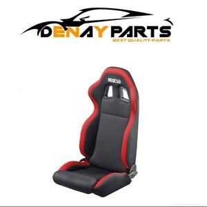 Black red R100 Series Street Competition Racing Seat Sparco 00961nrrs