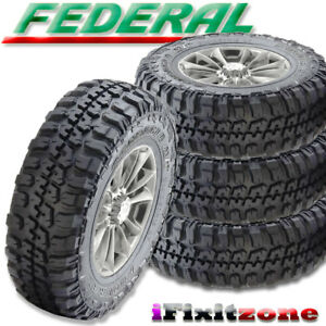 4 Federal Couragia M t 37x12 50r17 Mud Tires Lt 37x12 50x17 10 Ply 129q New