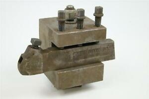 J h Williams Turning Tool Holder With Lathe Turret Block No 3 s