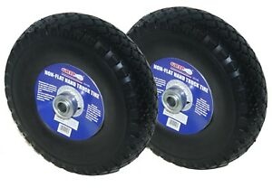 2x 3 00 4 Grip 52108 Non flat Hand Truck Cart Dolly Tire Wheel Assembly black