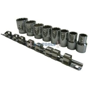 8pc 1 2 Lecteur Whitworth Socket Set Wit Rail