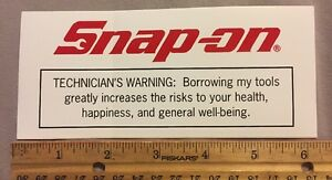 Snap On Warning Label Decal Sticker 6 25 X 2 75