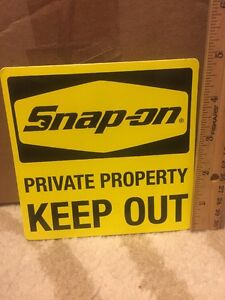 Snap On Decal Private Property Keep Out