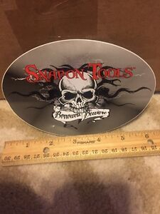 Genuine Snap On Tools Logo Decal Borrowers Beware Oval 6 X 4 New