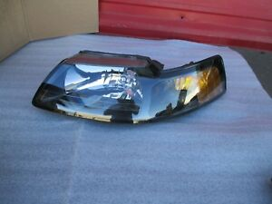 Ford Mustang Headlight Oem 2001 2002 2003 2004 Black Head Lamp 01 02 03 04