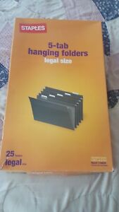 Staples Hanging File Folders Legal Size 29 With Labels In Box