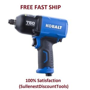 Kobalt Impact Wrench Pneumatic 1 2 in Drive 0 5 in 750 ft Air Tool Gun New
