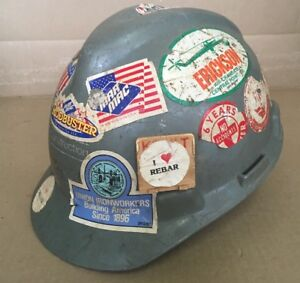 Msa Construction Ironworkers Hard Hat Display Stickers Rebar Mar Mac Safety