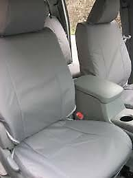 2001 2004 Toyota Tacoma Exact Fit Seat Covers Flat Bucket Seats In Gray Twill
