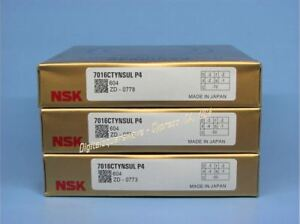 Nsk 7016ctynsul P4 Abec 7 Super Precision Spindle Bearings Matched Set Of 3