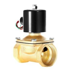 Happybuy 2 Npt Electric Solenoid Valve 110v Ac Normally Closed For Water