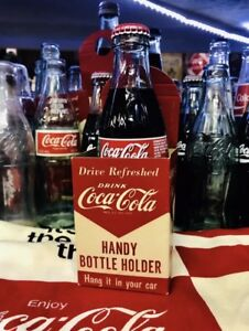Coca Cola Handy Bottle Cup Holder Original 40s 50s Vintage Soda Collectible