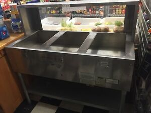 3 Well Gas Steam Table Hot Food Buffet Station