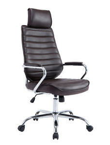 Pu Leather High Back Office Task Chair Computer Swivel Ergonomic Chair Yal
