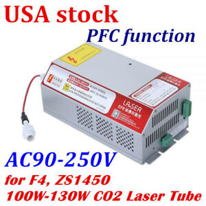 Efr F4 Zs1450 100w 130w Co2 Laser Tube Es100 Power Supply Pfc Function usa