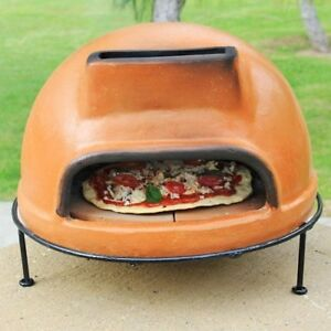 Outdoor Pizza Oven Wood Burning Fired Terracotta Clay Brick Table Counter Top Us