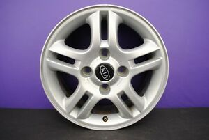 04 06 Kia Spectra 15 Rim 10 Spoke 15x6 Alloy Wheel Silver 52910 2f600 Oem
