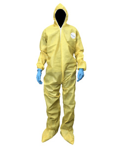 Shieldtech 55 Yellow Chemmax 1 Protective Coverall X large 53077 case Of 25