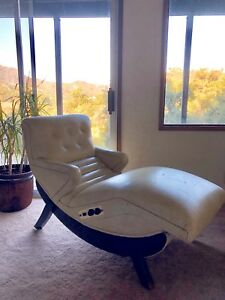 Vintage Mid Century Modern Contour Lounge Reclining Chair By St Louis Chair Comp