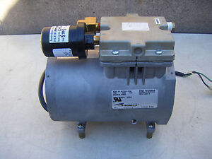 Thomas Electric Lab Vacuum Pump 607ca32 810h 115v 60hz 4 5a Thermally Protected