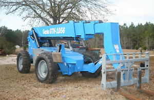 2012 Genie Gth 1056 56 10k Lbs Telescopic Reach Fork Lift New Paint And Decals