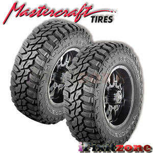 2 Mastercraft Courser Mxt Lt305 60r18 Blk E 10 All Terrain Mud Tires