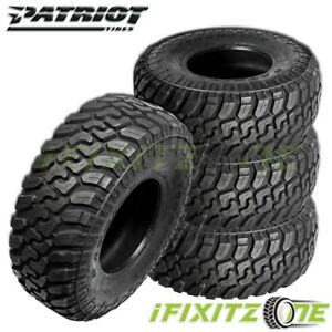 4 X New Patriot Mt 37x12 50r17lt E 131q All Season Tires