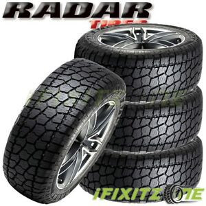 4 X New Radar Renegade At 5 35x12 50r20lt 10pr 121r Tl Owl All Terrain Tires