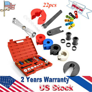 22pcs A C Fuel Air Conditioning Line Disconnect Set Spring Lock Couplering Tools