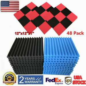 48pcs Acoustic Foam Soundproof Panel Studio Soundproof Sponge Absorption Sound