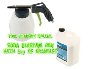 Soda Blasting Cleaning Gun With 5kg Special Granules Environmentally Friendly